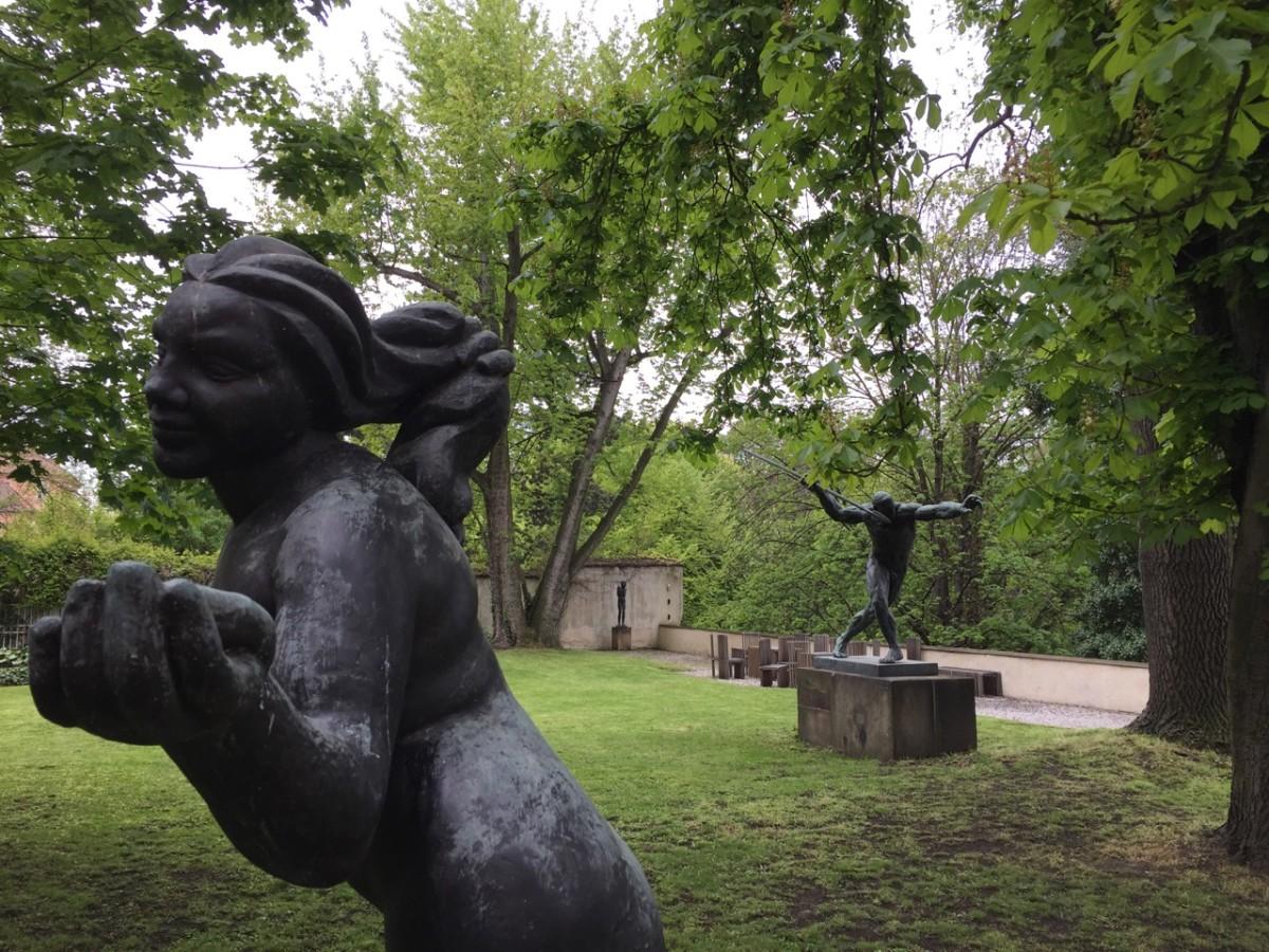 Statues in the Schwarzenberg Palace Museum gardens (c) A. Harrison