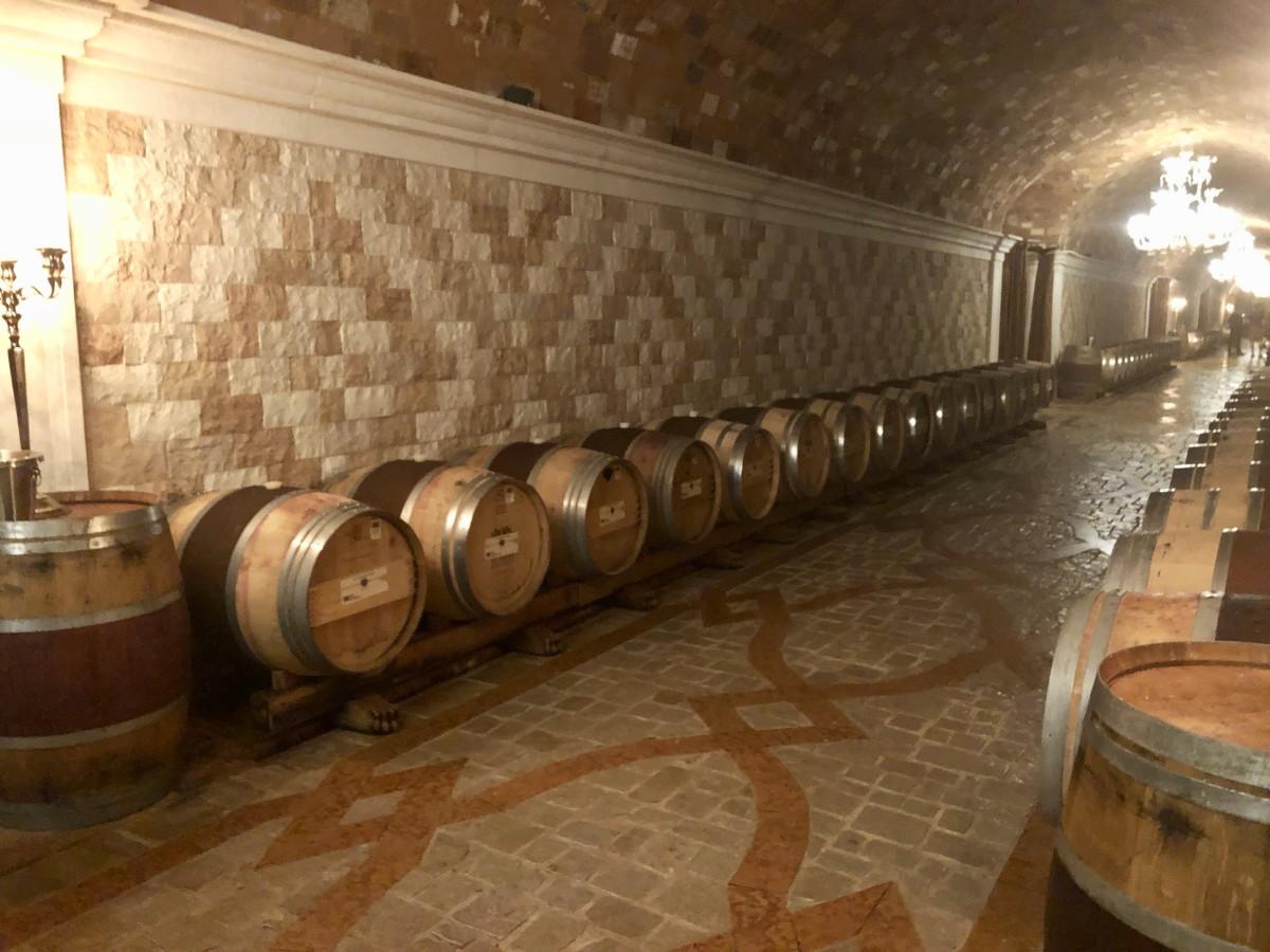 Del Dotto Estate caves with barrel tastings