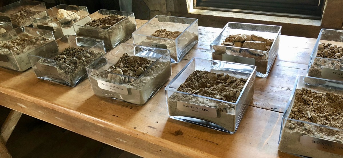 Nickel & Nickel vineyard soil samples found throughout Napa Valley