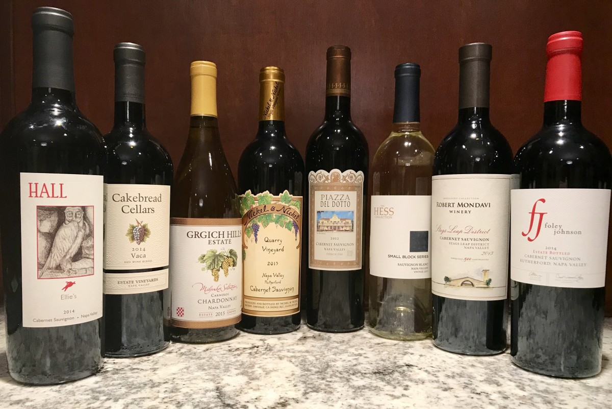 Fine wines from winery list above, including Chardonnay, Cabernet Sauvignon, Sauvignon Blanc, and Merlot.