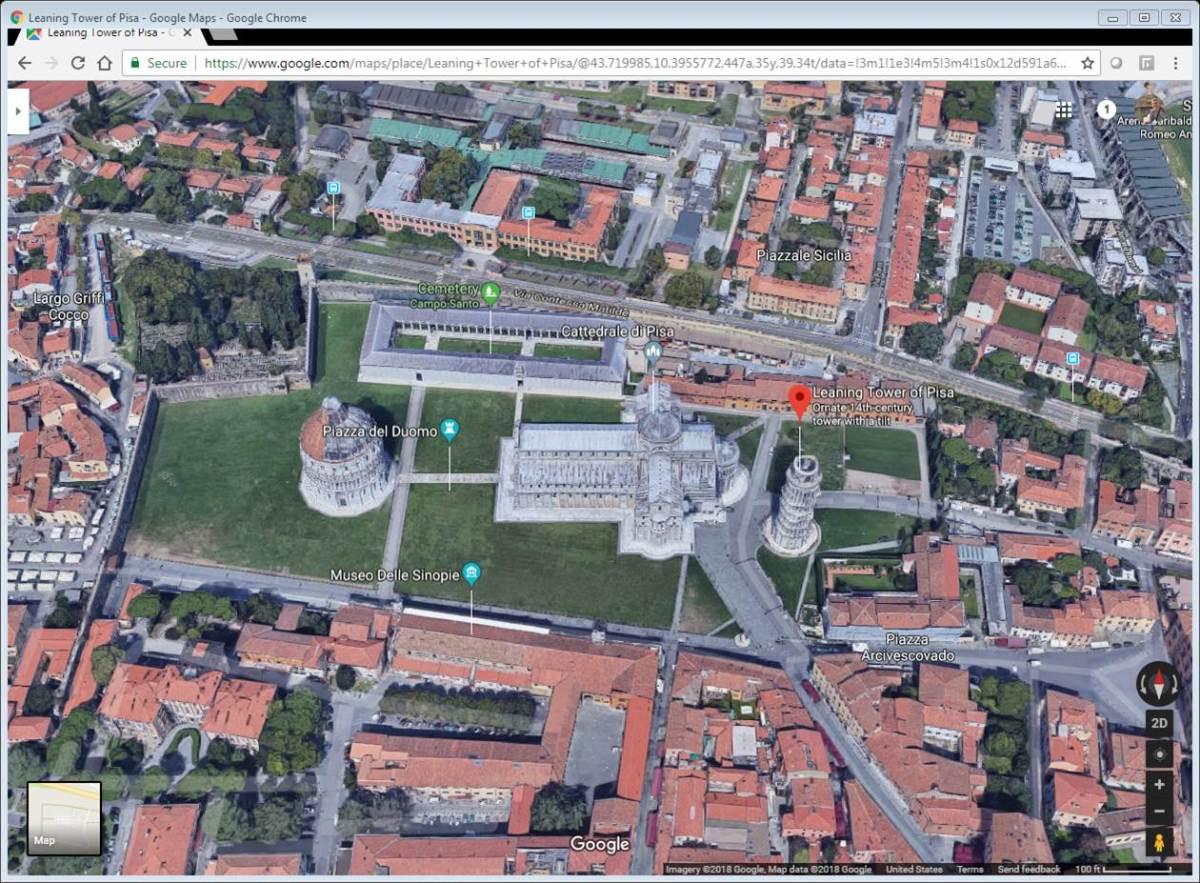 Aerial view of Piazza del Duomo