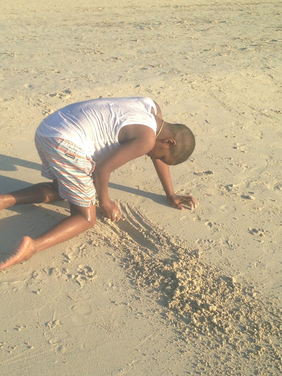 Kids will love the soft sand as much as the calm water.