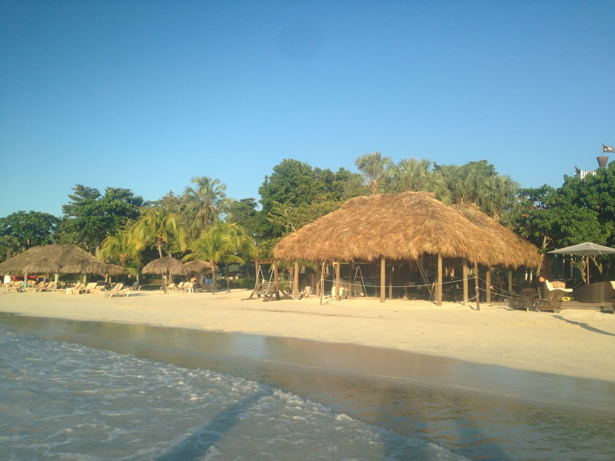 Any Beaches, Negril review has to include the postcard perfect beach at the resort.