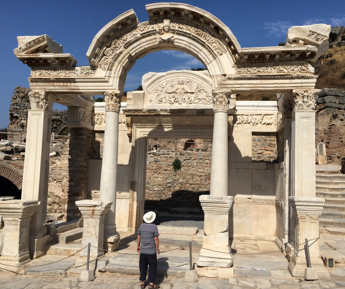 Fewer and fewer Americans are visiting Turkey each year. Pictured: the ancient ruins of Ephesus.