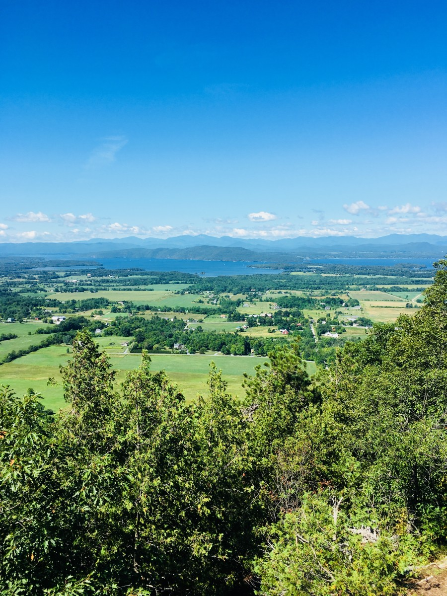 Mt Philo features amazing views of Lake Champlain.