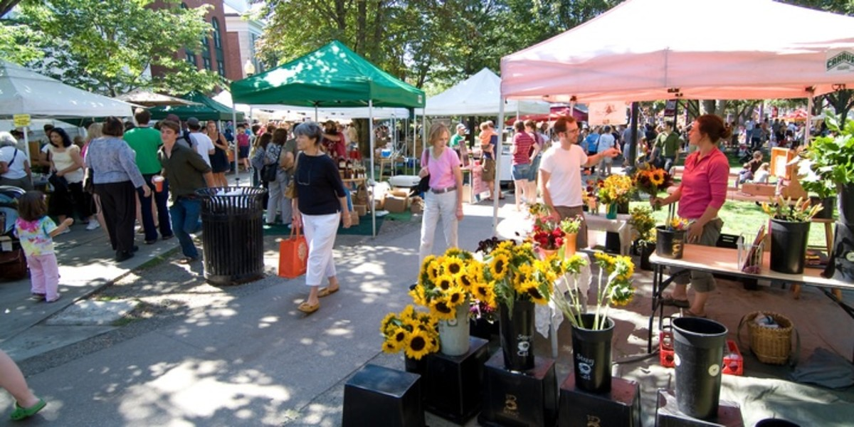 Burlington Farmer's Market is a great place to stop for anything from fresh pastries to local art and jewelry.