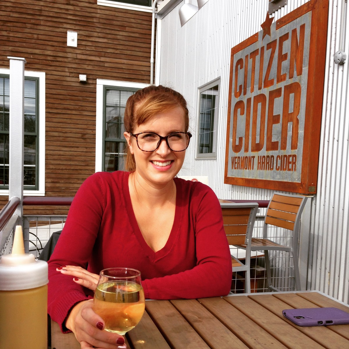 Citizen Cider has a great outdoor seating area.