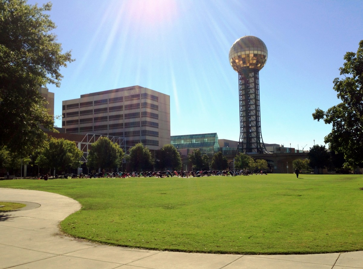 World's Fair Park with the Sunsphere.