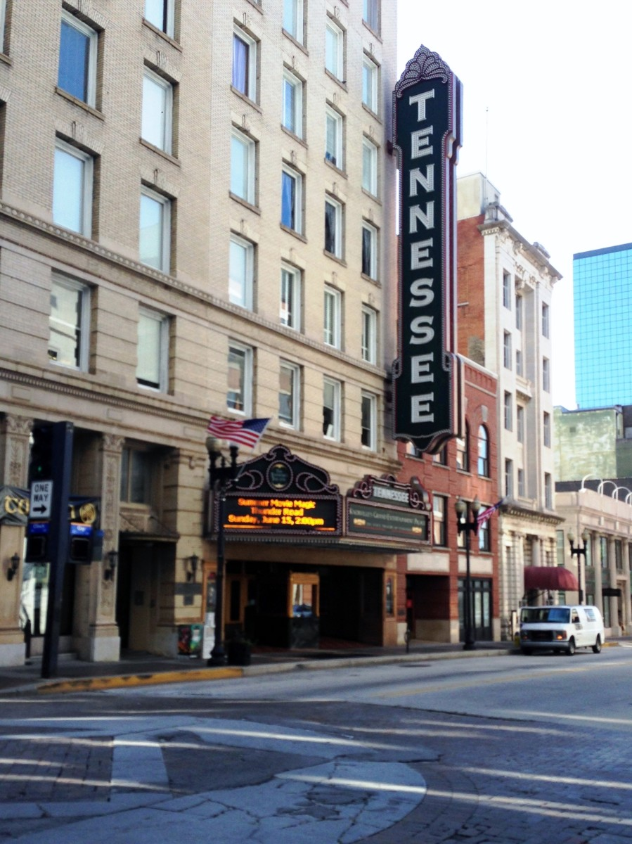 The historic Tennessee Theatre on Gay Street, Knoxville.