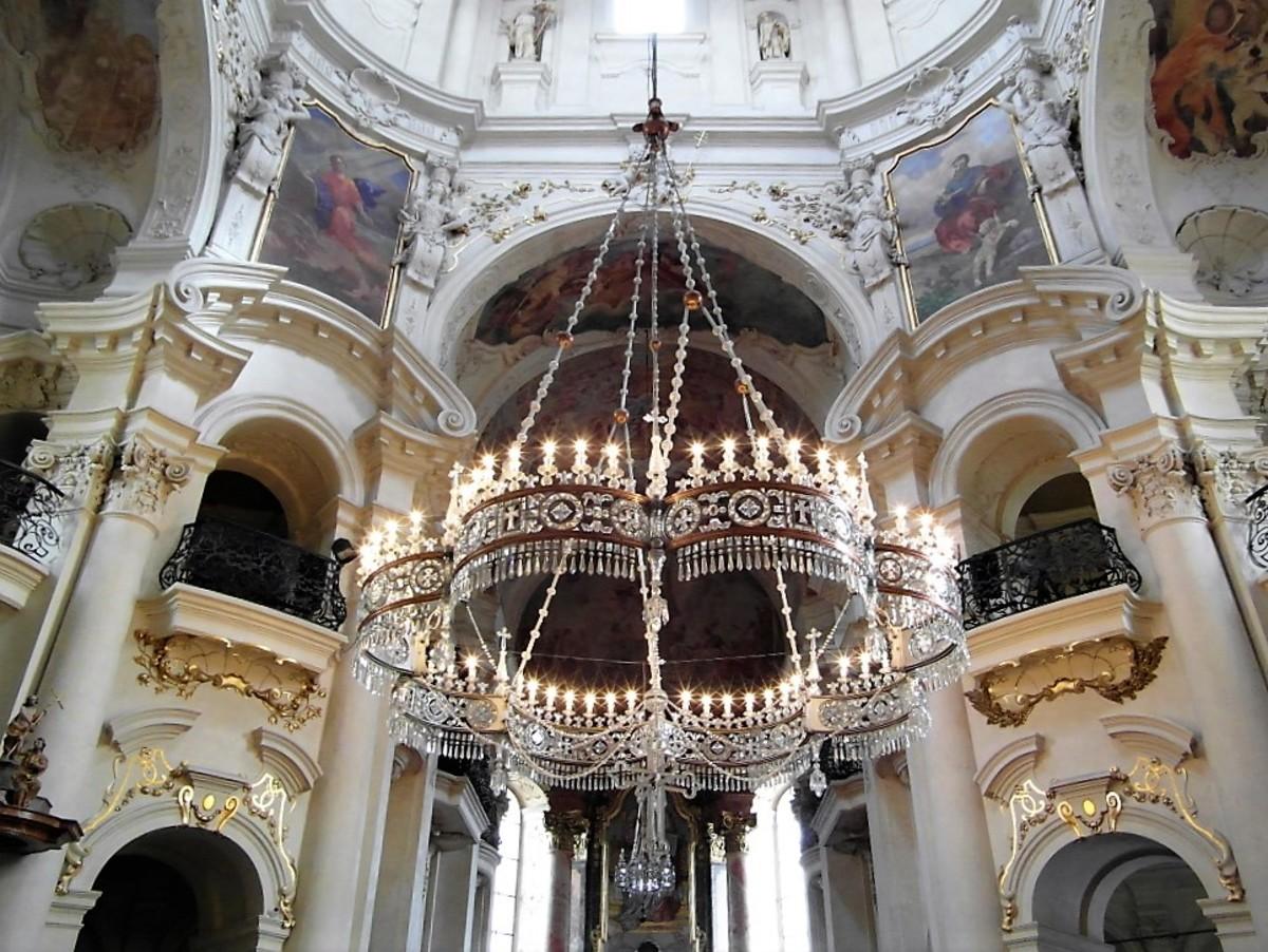 Interior of Church of St Nicholas, Old Town Prague.