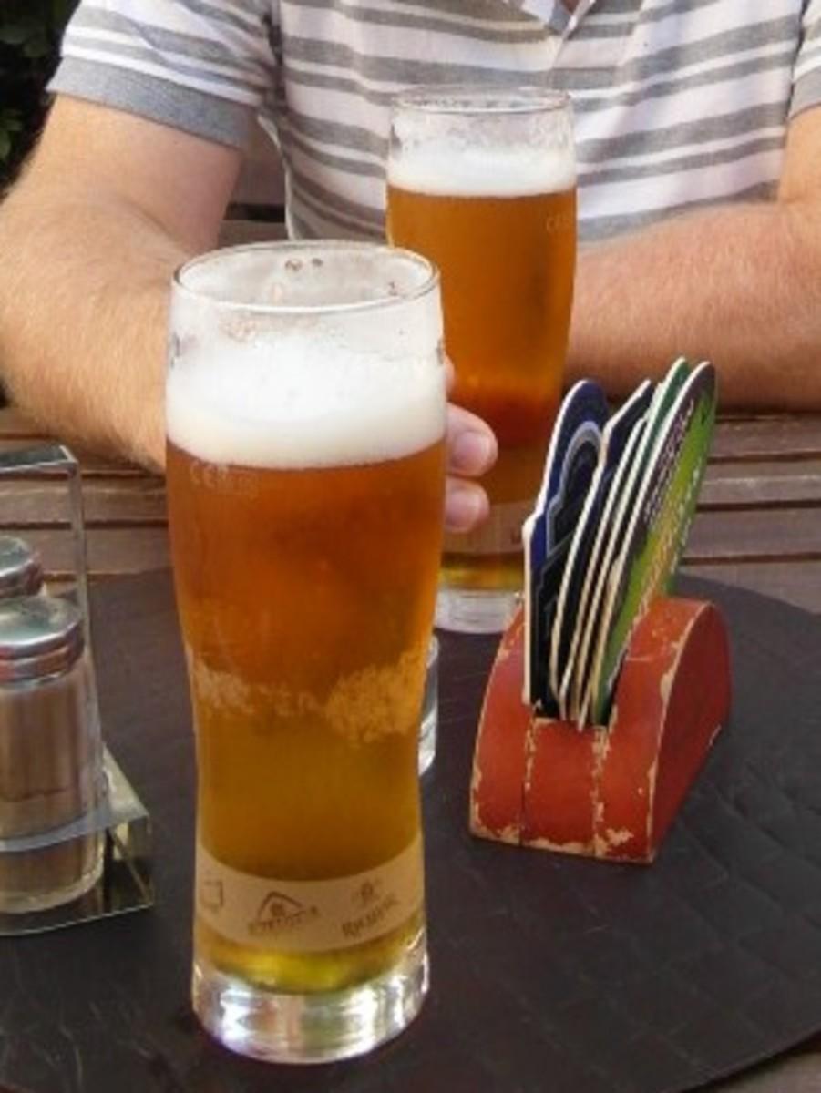 Prague beer.