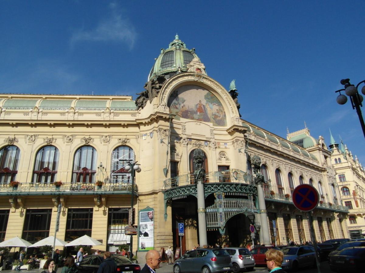 The Municipal House's stunning art nouveau exterior.
