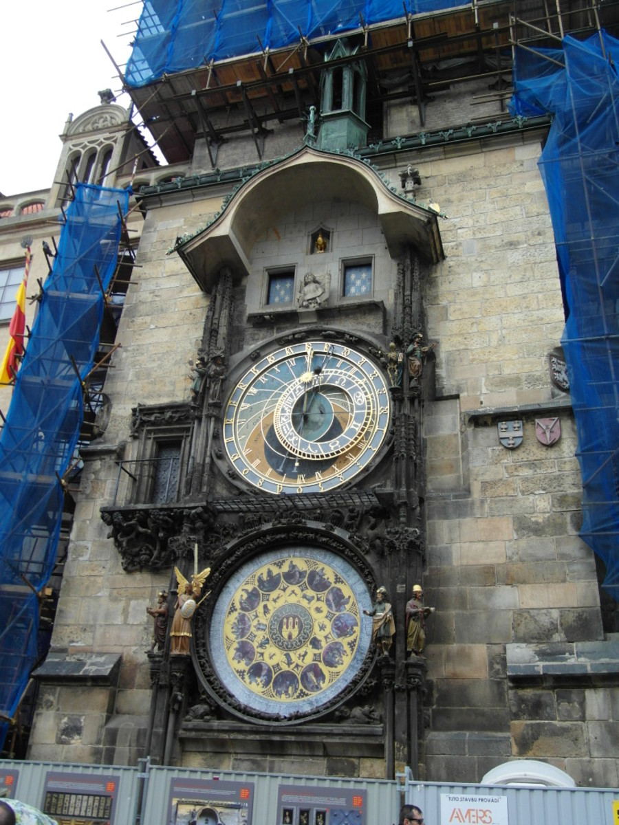 Astronomical clock, Prague Old Town.