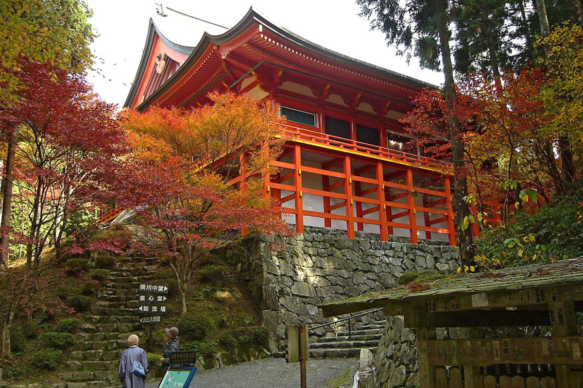 The rebuilt Enryaku-Ji in Kyoto Prefecture. Site of Nobunaga's most heinous atrocity.