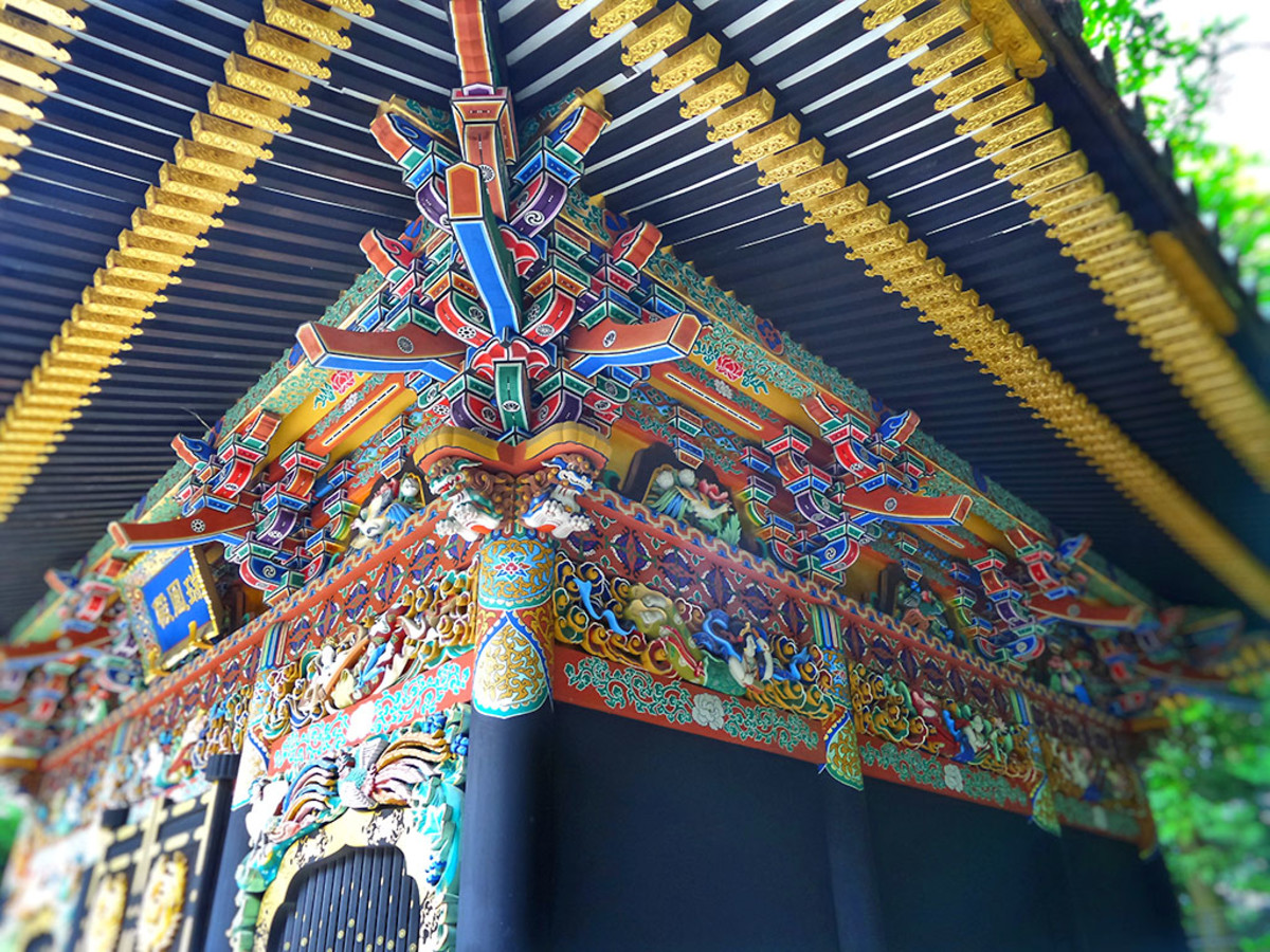 Zuihoden, the colorful mausoleum of Date Masamune. One of Sendai's most popular tourist attractions.