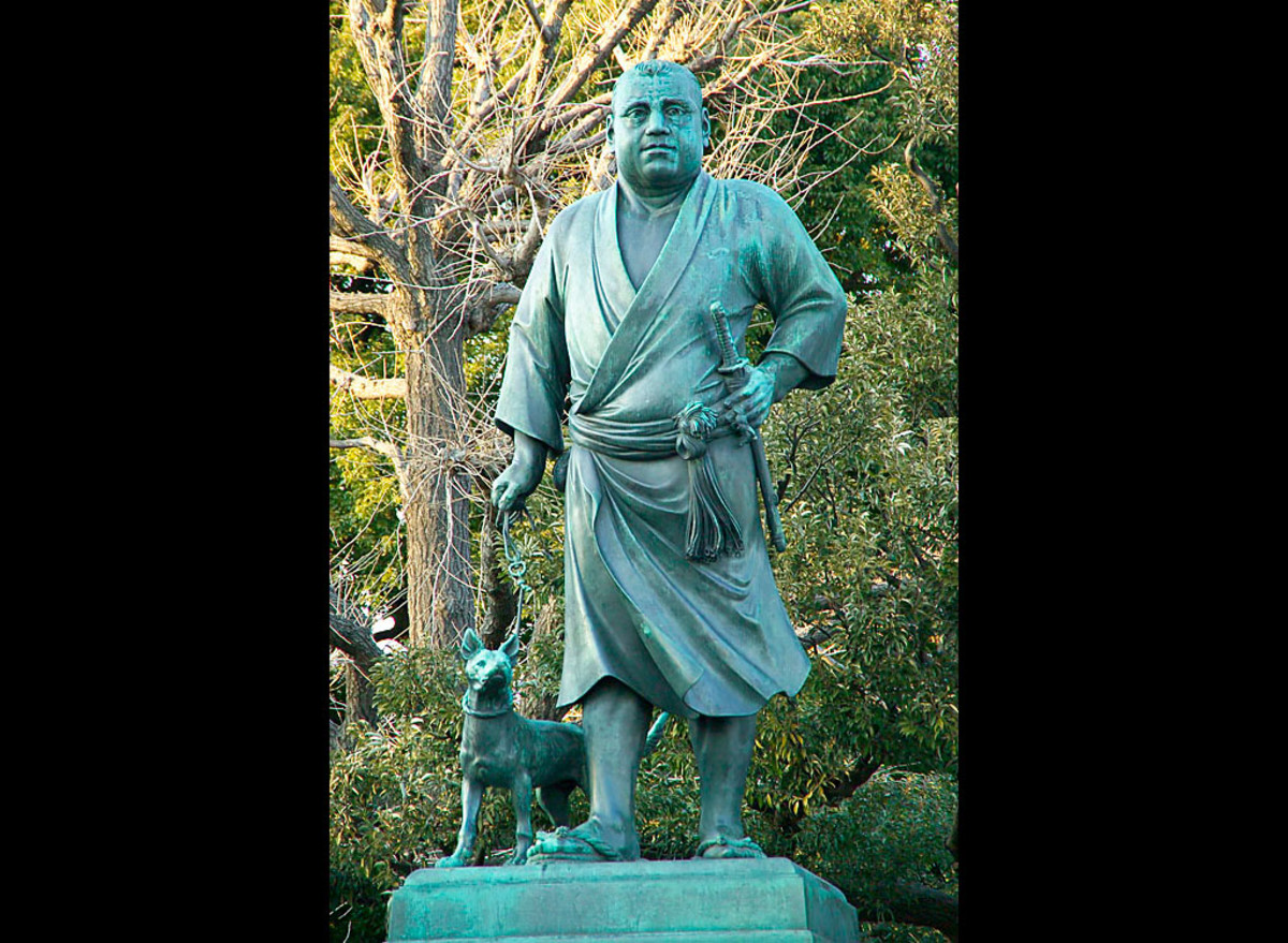 Statue of Takamori at Ueno Park, Tokyo. Considered by many to be the last true samurai, Takamori is one of the most respected figures in Japanese history.