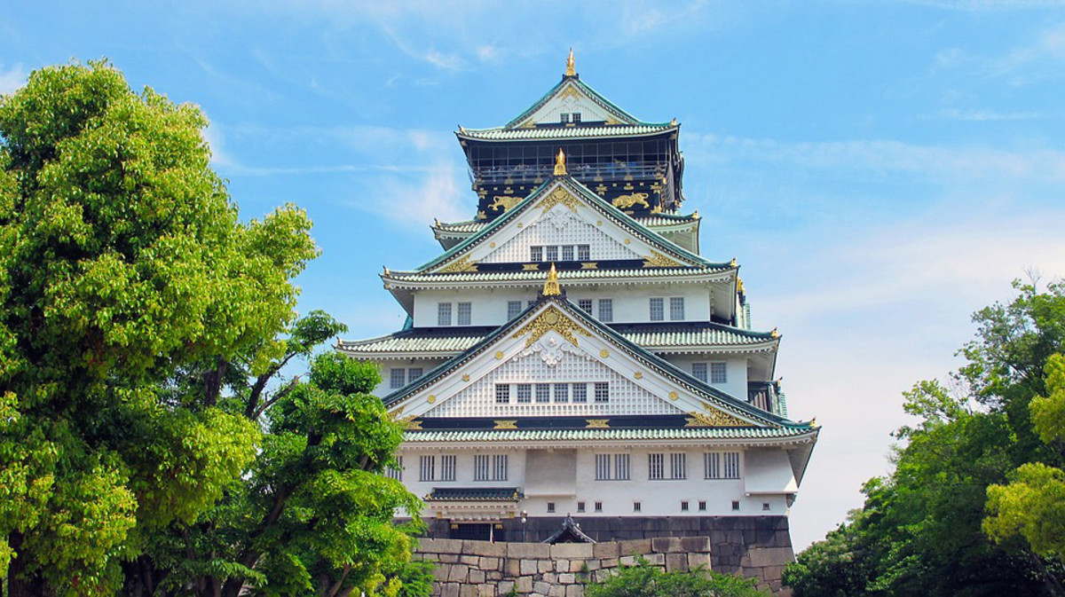 Magnificent Osaka Castle. Previously, the formidable stronghold of one of medieval Japan's most powerful warlords.