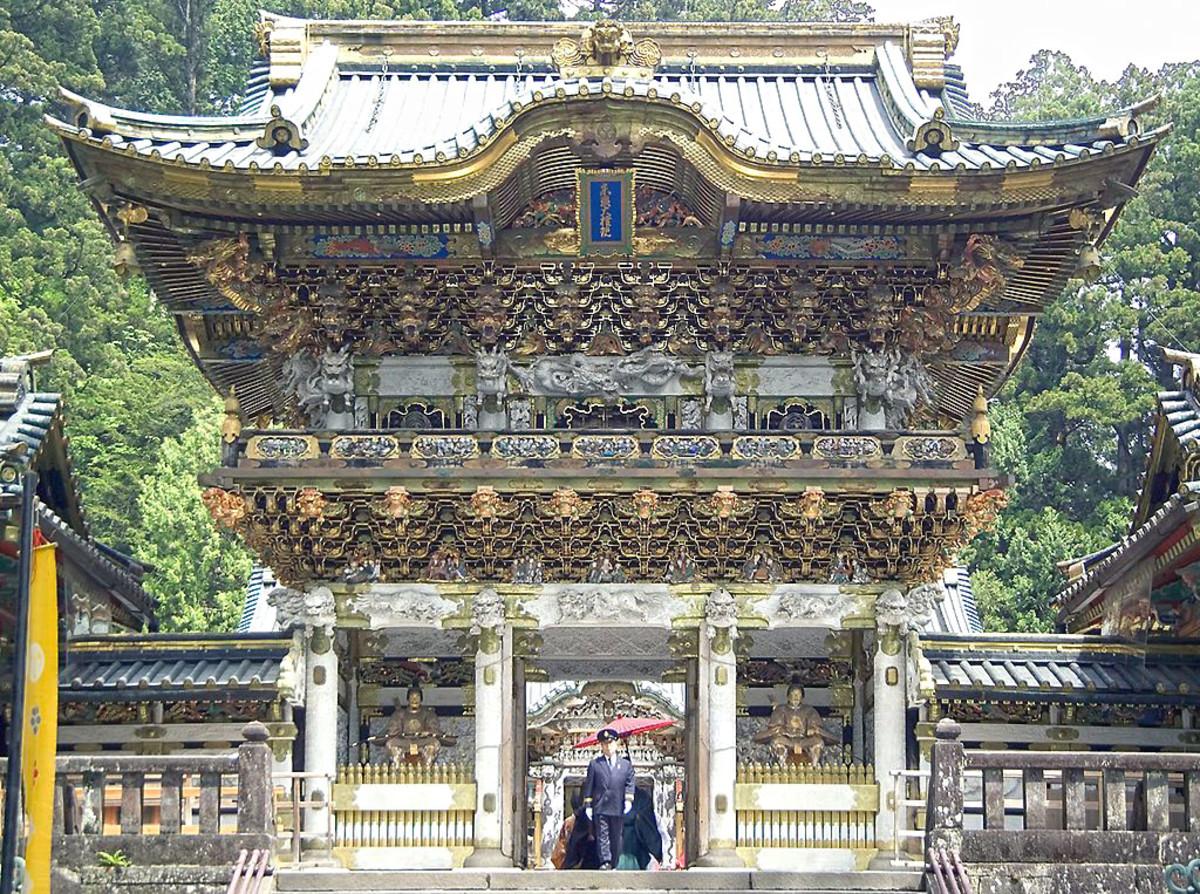 Entrance to Tōshō-gū, Ieyasu's magnificent mausoleum in Nikko, Tochigi Prefecture.