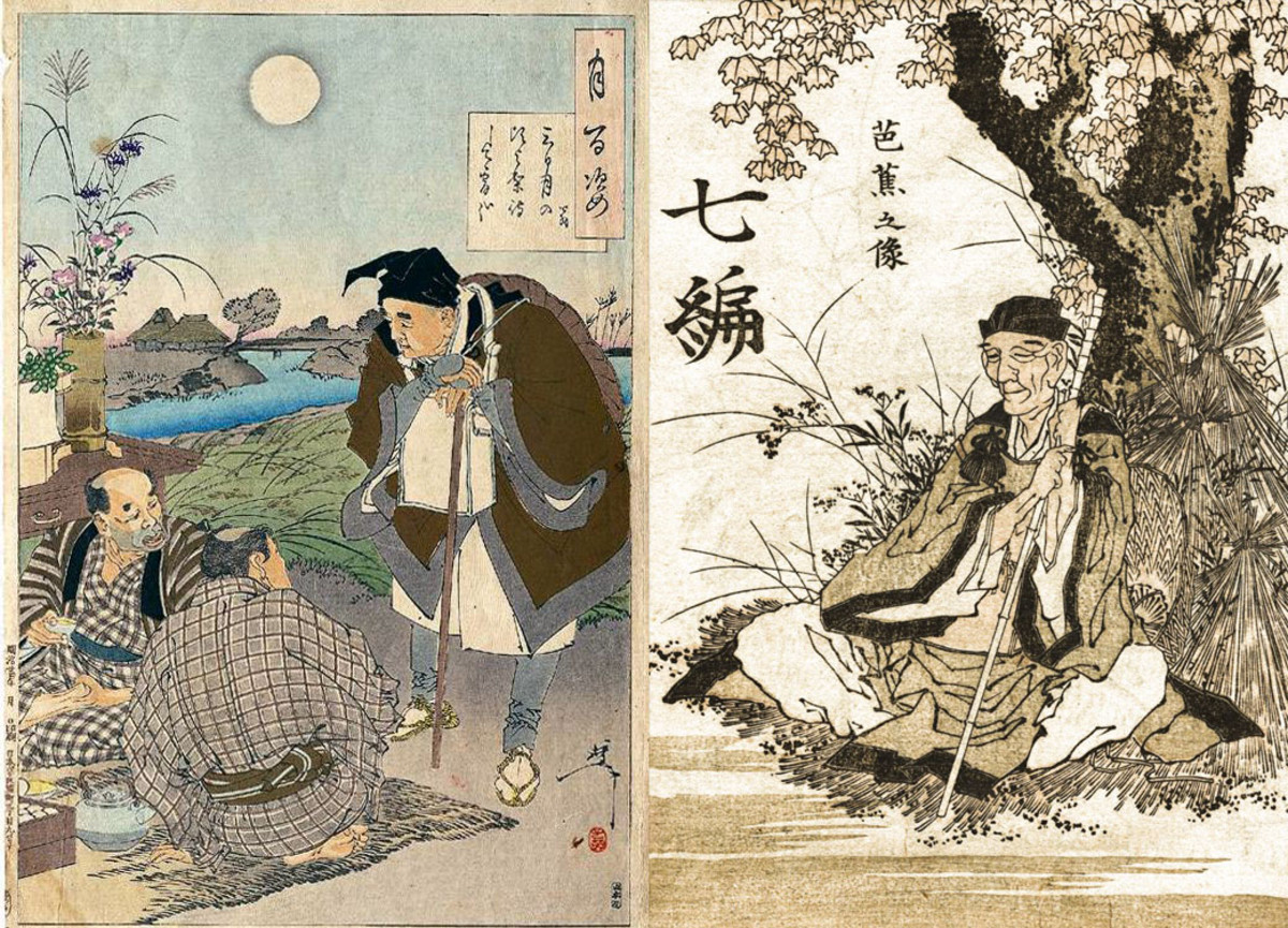 Edo Period depictions of Bashō.