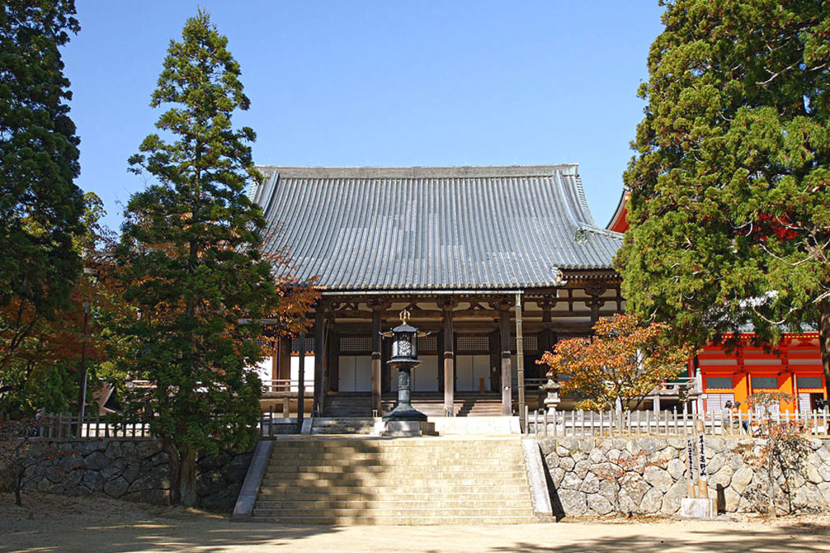 The atmospheric Mount Kōya Monastery in Wakayama Prefecture, headquarters of the Shingon Sect of Japanese Buddhism.