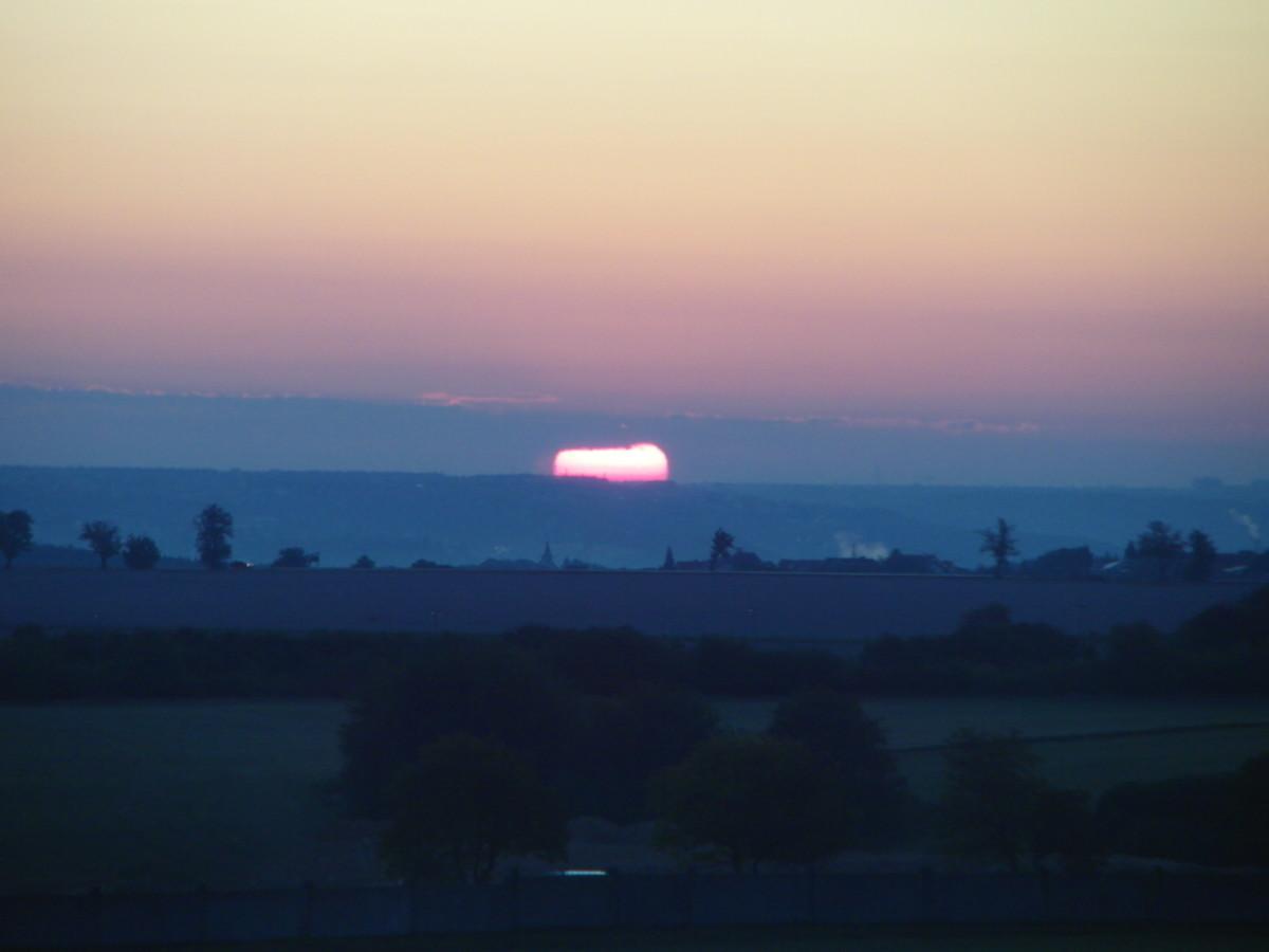 Sunrise near Prague airport.