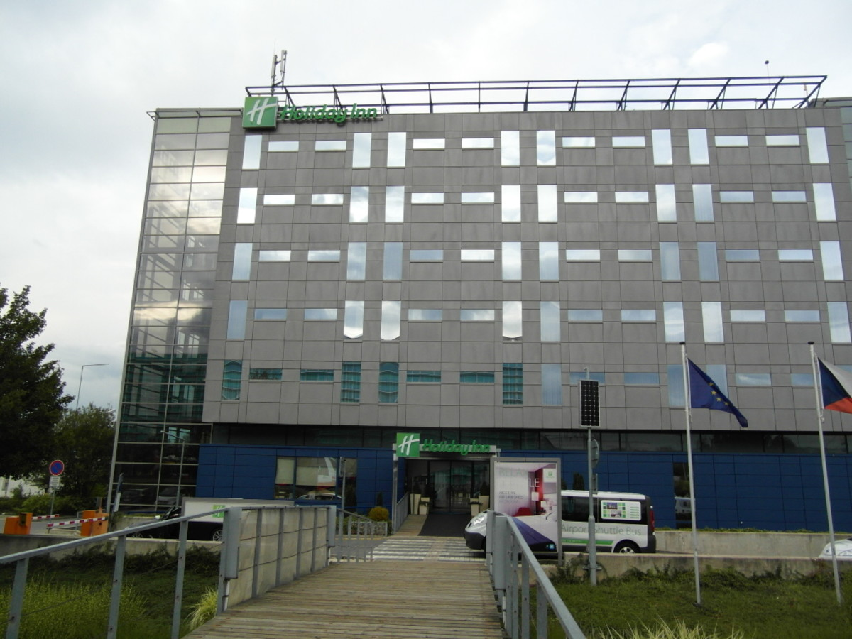 Front of Holiday Inn Prague Airport.
