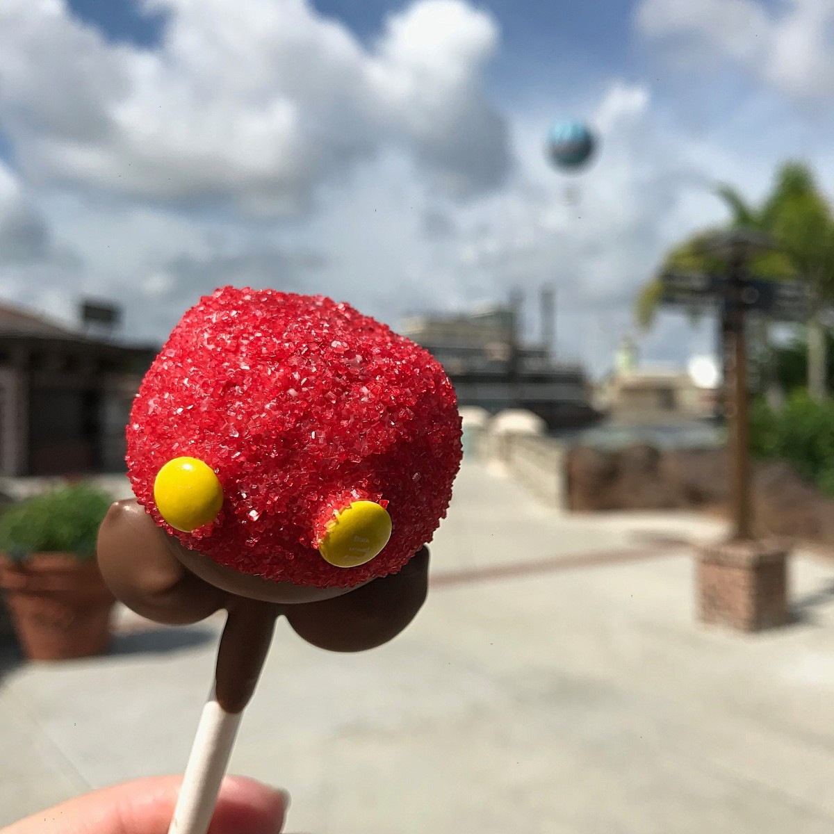 Who could say no to a cake pop from the candy shop at Disney Springs.  Yummy!