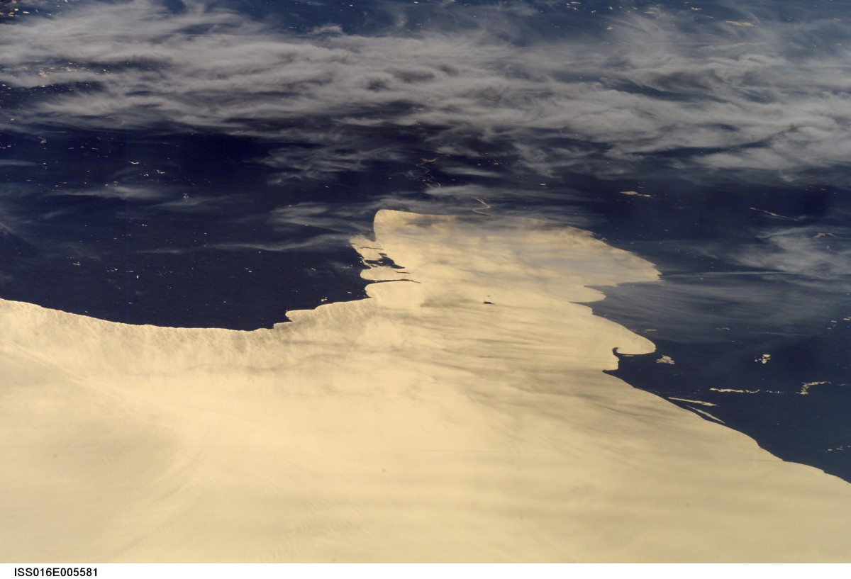 Charity Island as seen from Space in the Middle of Saginaw Bay