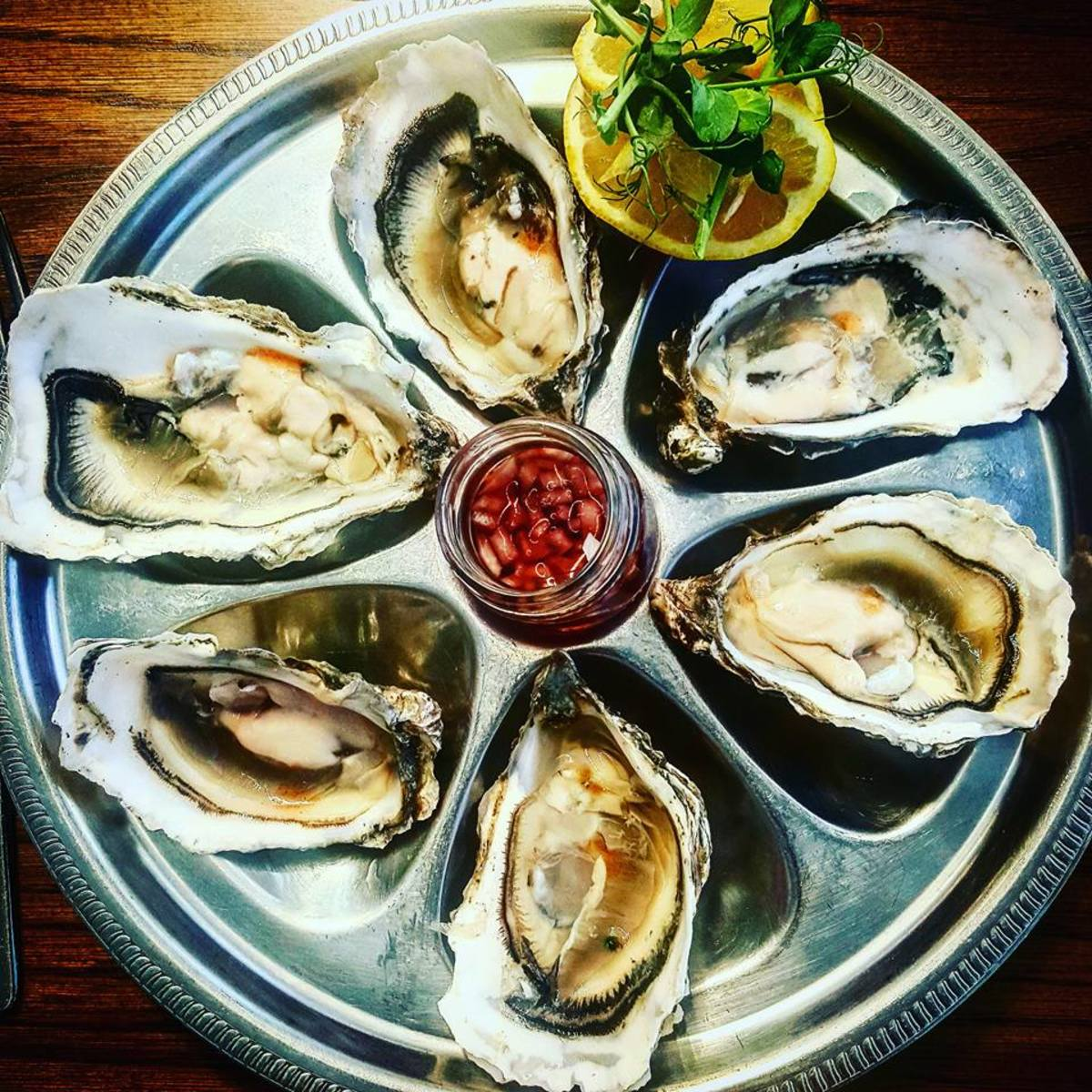 Sampling Galway oysters, some of the best in the world.