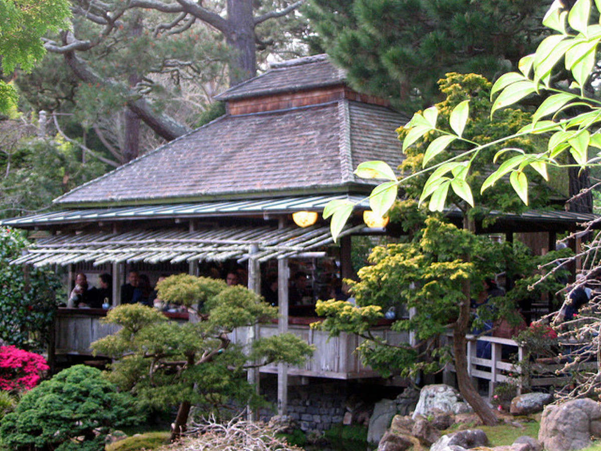 For a relaxing respite and authentic Japanese snack, stop in the teahouse during your visit