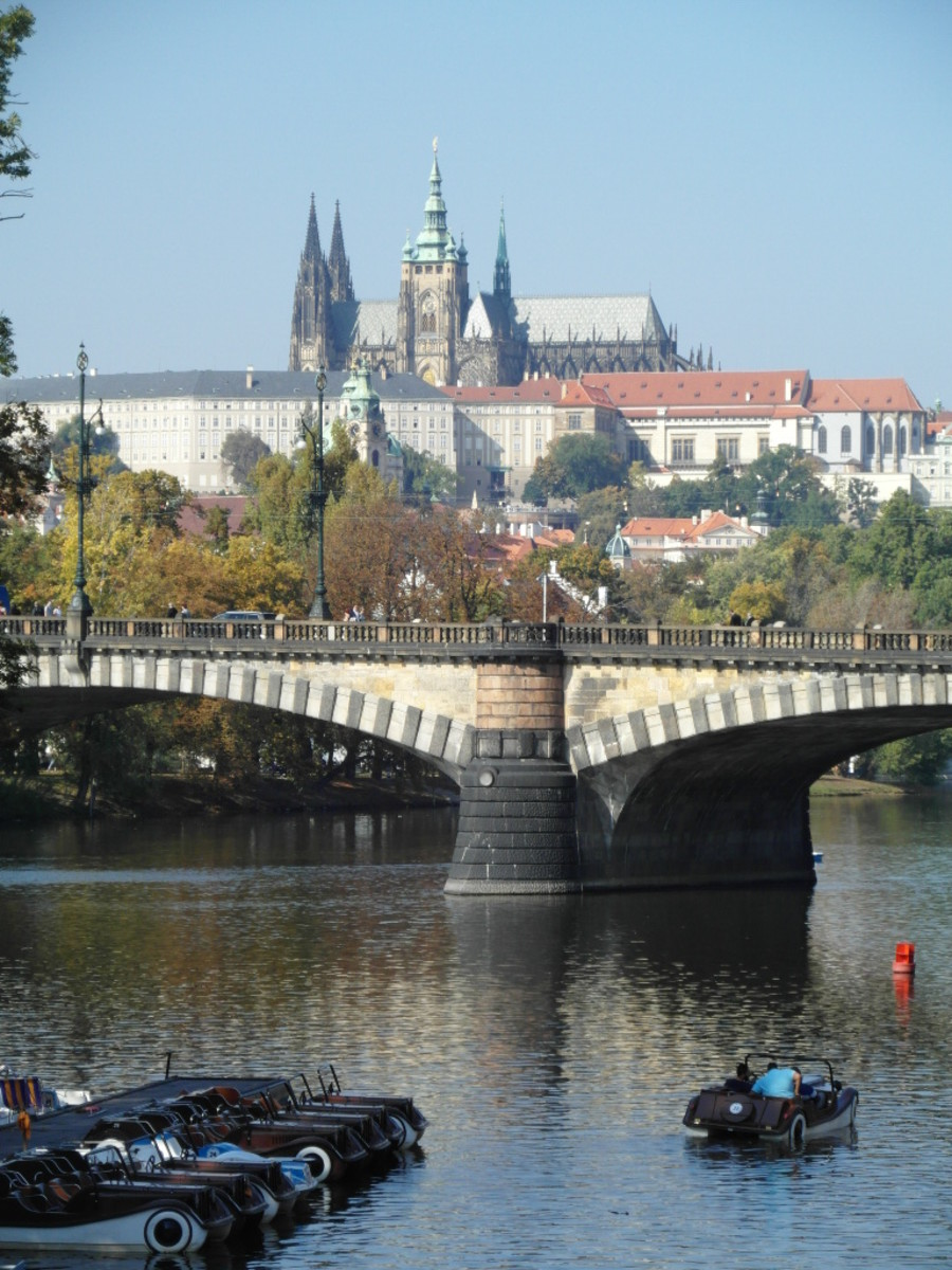 Floating cars in Prague.