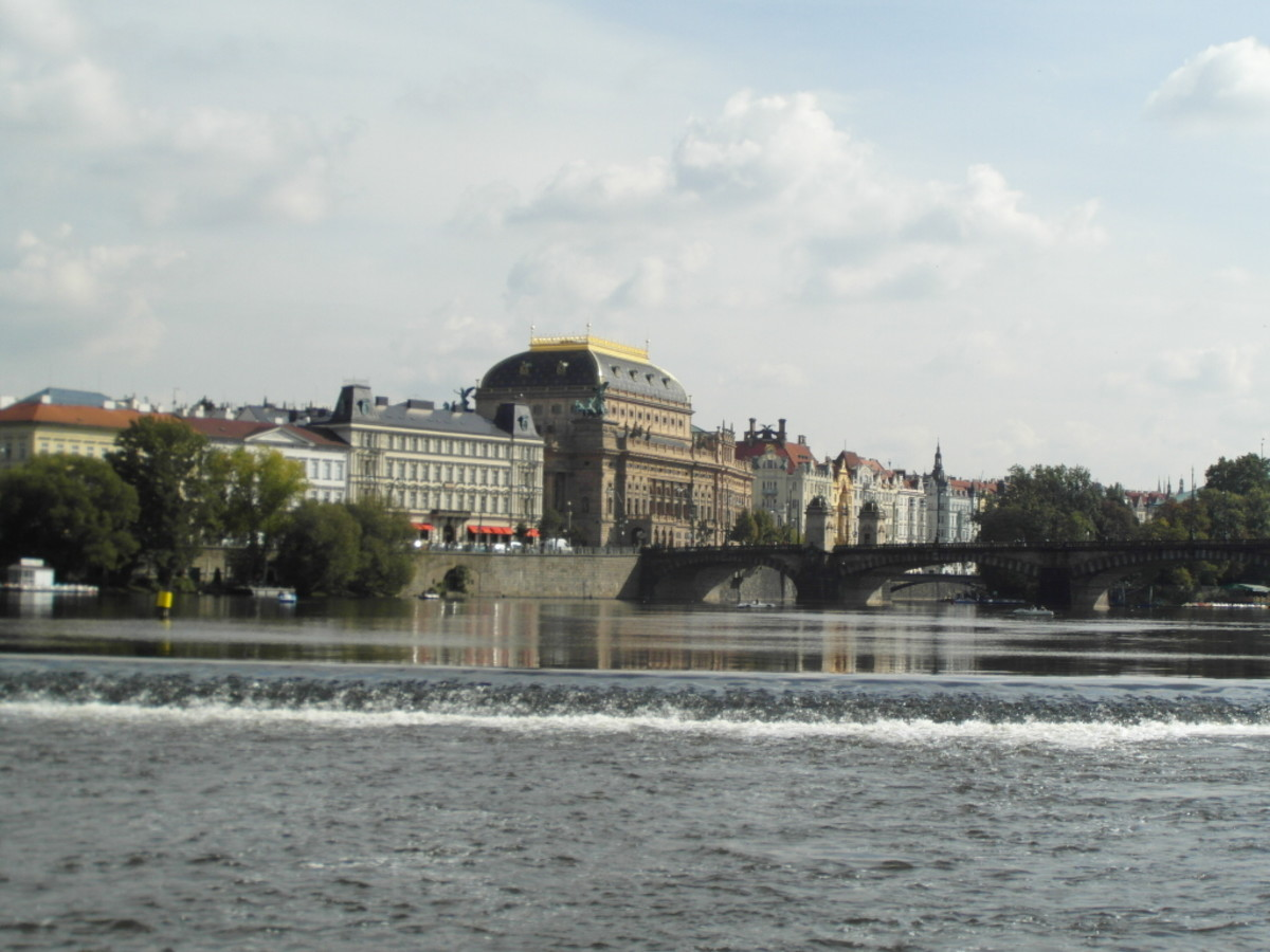 Nove Mesto from the River Vltava.