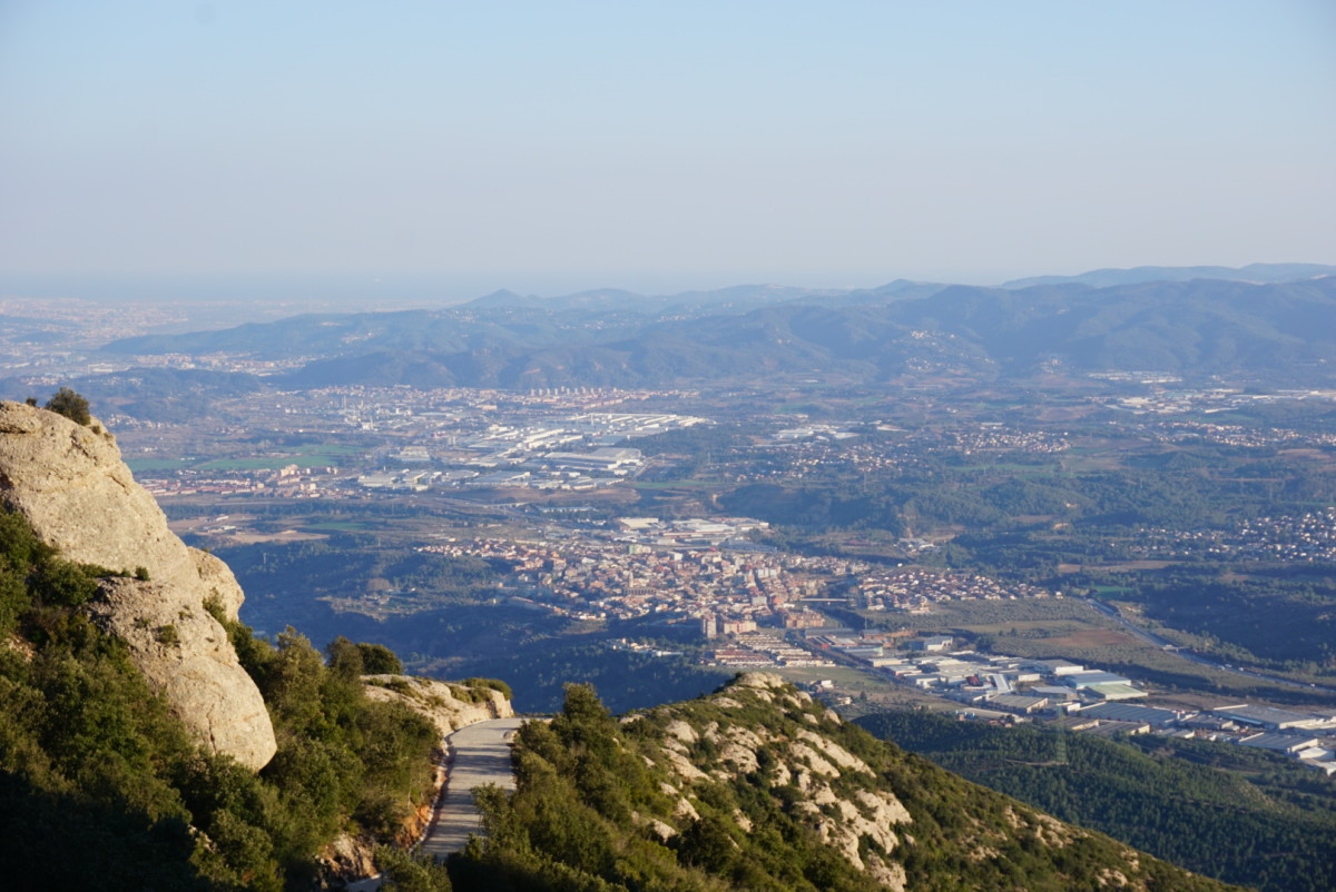 Spectacular view from Montserrat overlooking Catalonia.
