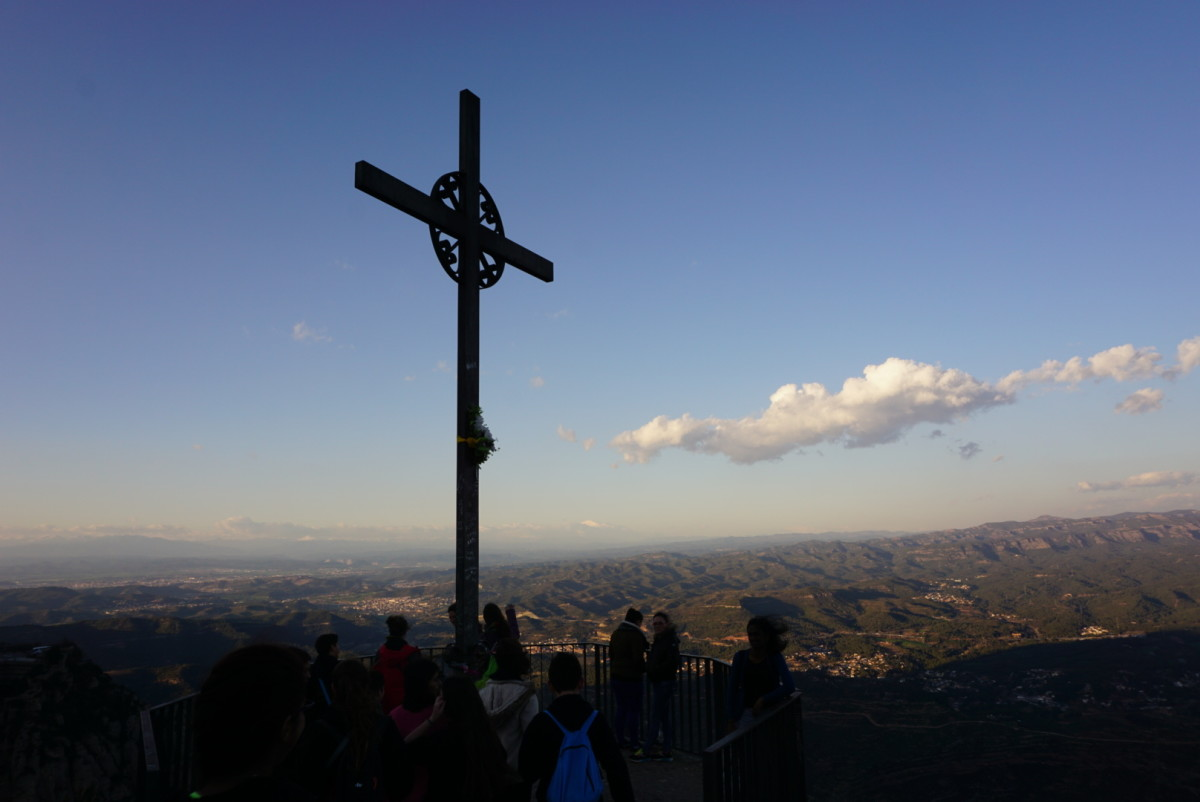 One of the crosses in Montserrat.