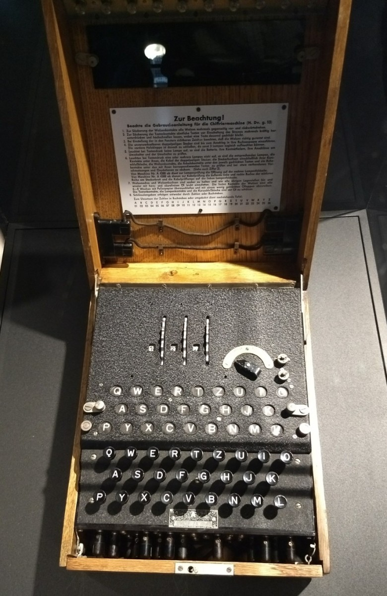 The Enigma Machine. Spyscape contains one of the original encoding machines used by the Axis during World War II.