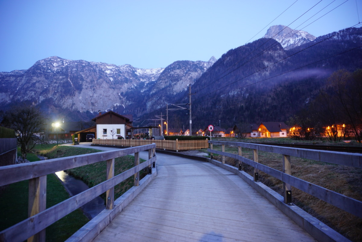 A shot of the evening in Obertraun.