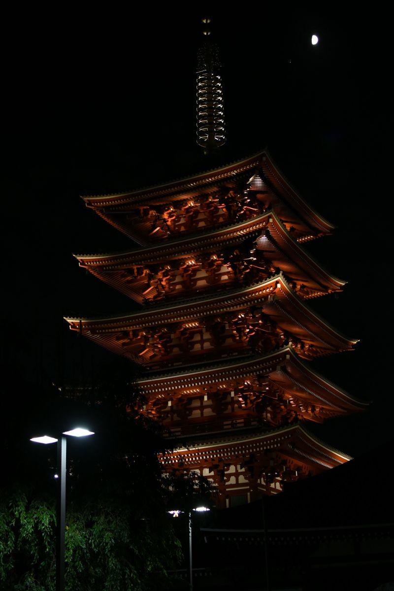 Five-Story pagoda, Senso-ji temple, Asakusa