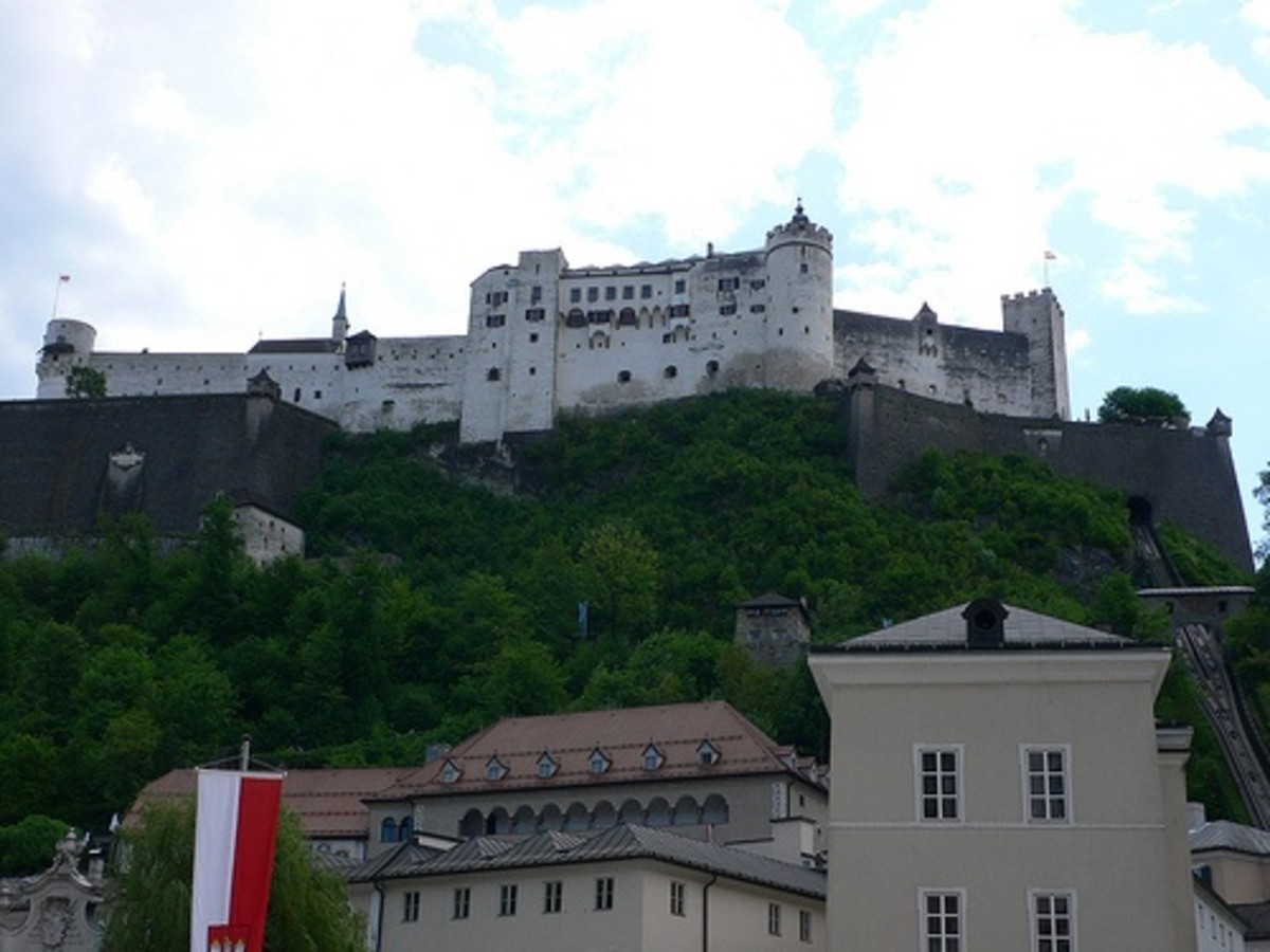 A shot of the Hohensalzburg fortress from the ground. Spectacular.