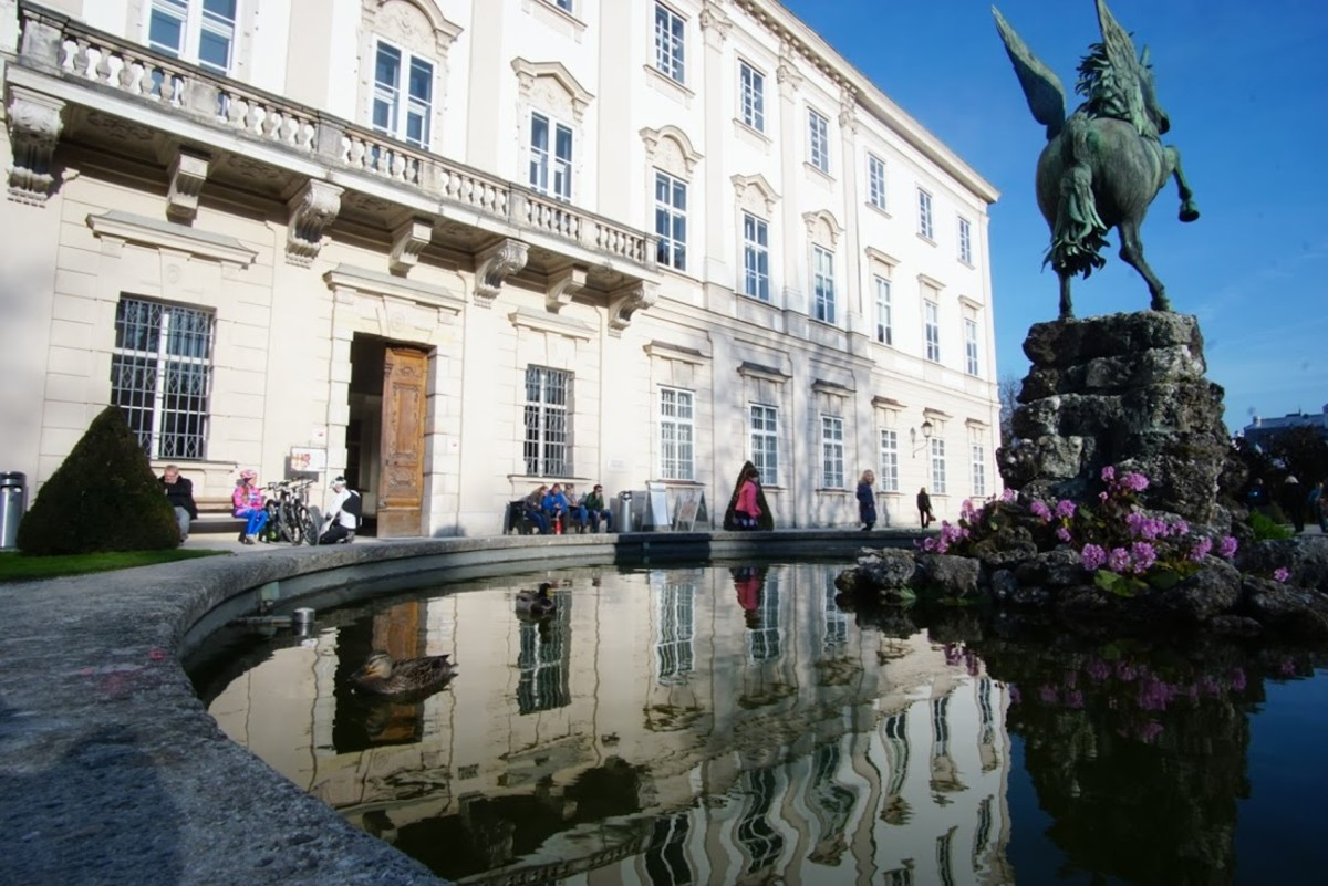 The historic Mirabell Palace featuring the Pegasus Fountain.