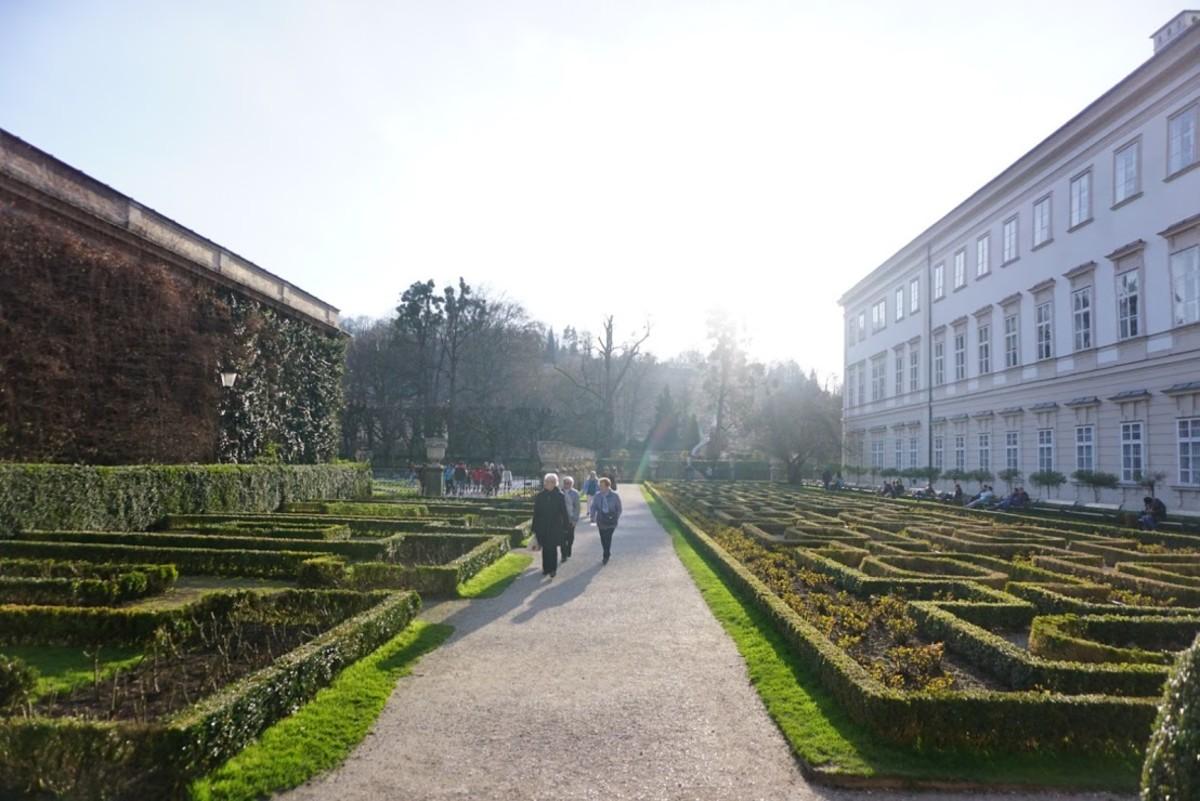 The Mirabell gardens.