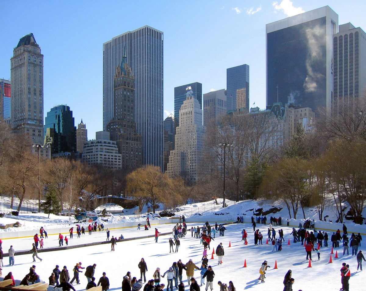 Wollman Rink is the best spot in Central Park for kids and families who enjoy ice skating in winter