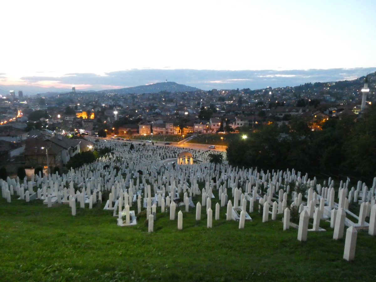 You can tell Bosnia-Herzegovina is an old land, if not an old country, by the size of the graveyards.