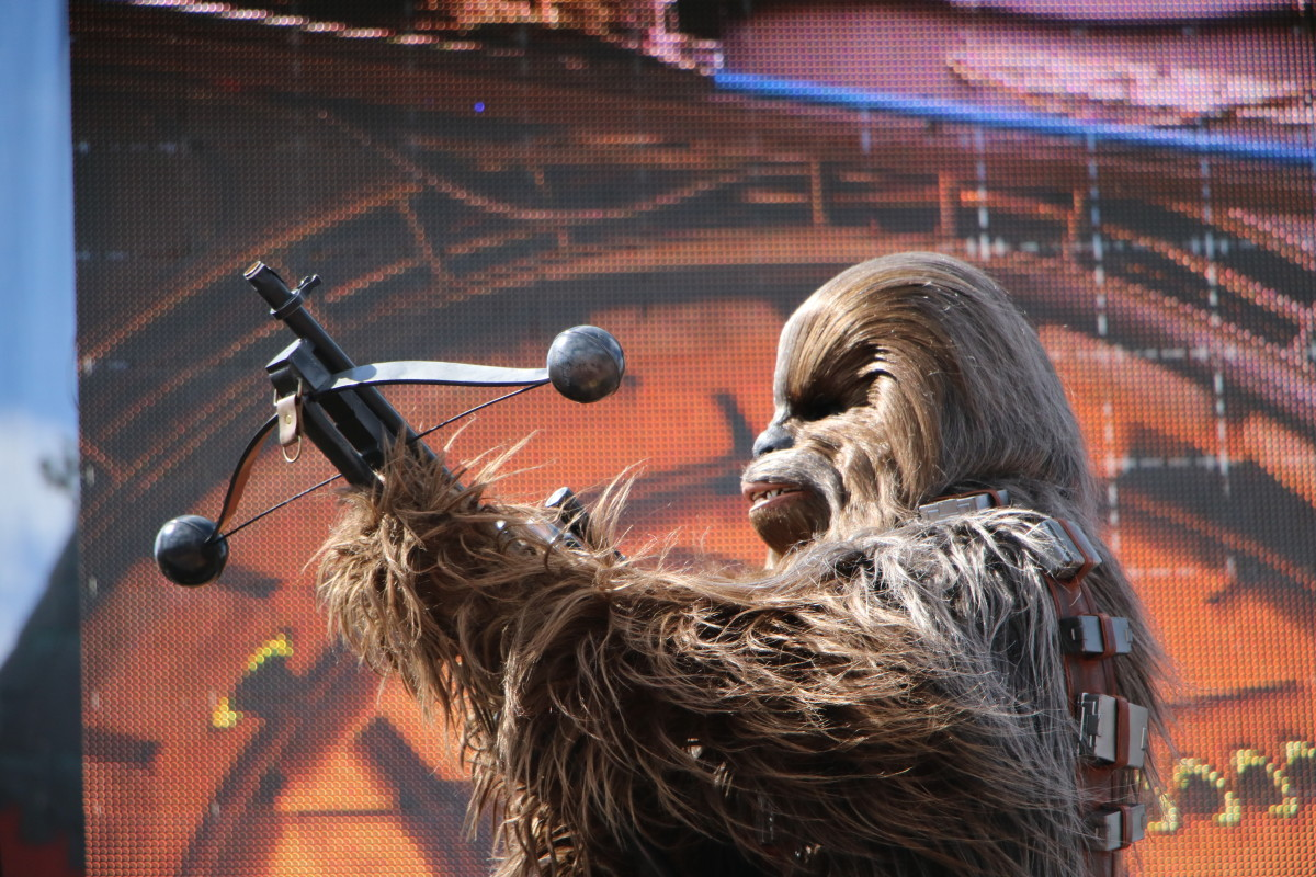 The Orlando parks offer a greater number and variety of shows, including A Galaxy Far, Far Away at Hollywood Studios.
