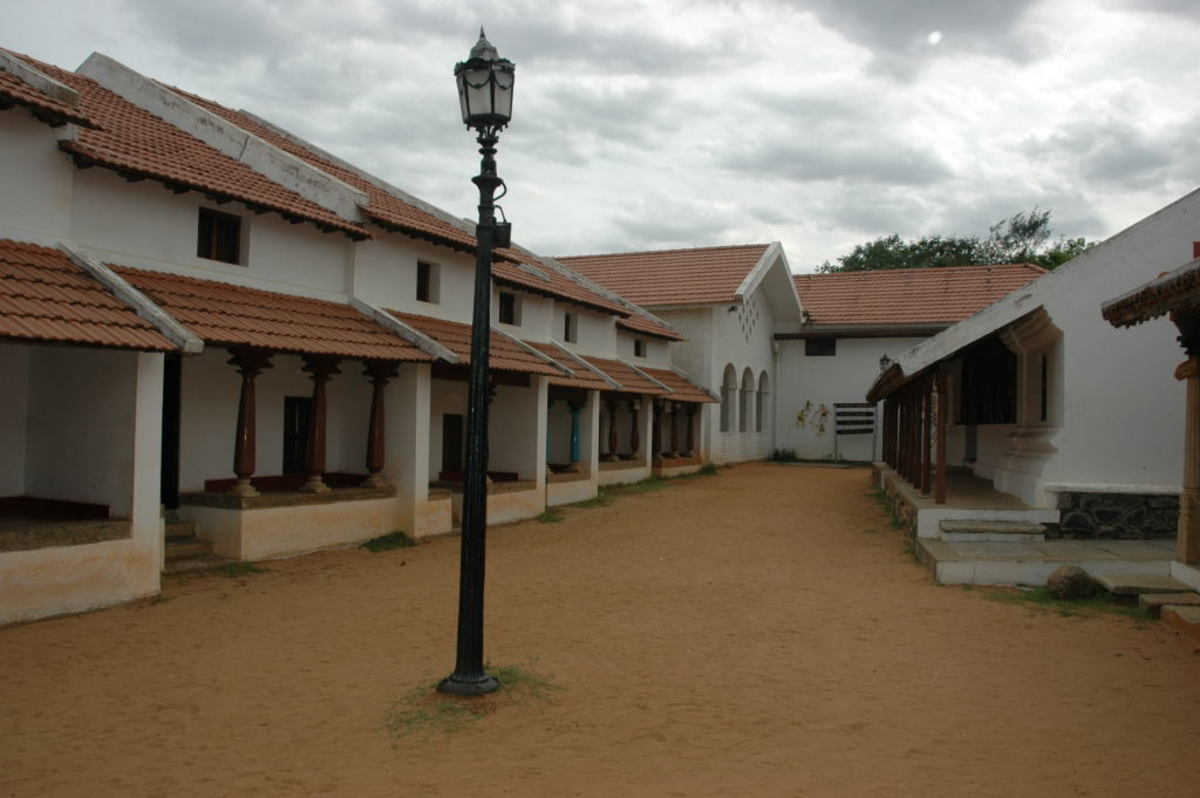 Agraharam, The Home For Tamil Orthodox as seen inside Dakshinachitra