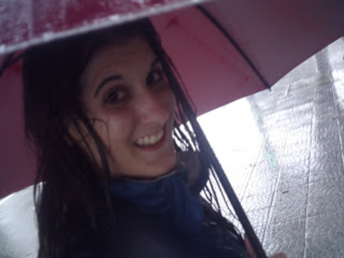 Exploring Hoi An in the rain.