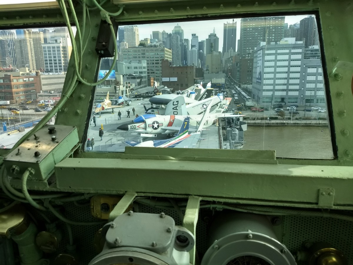 A View from the USS Intrepid's Bridge