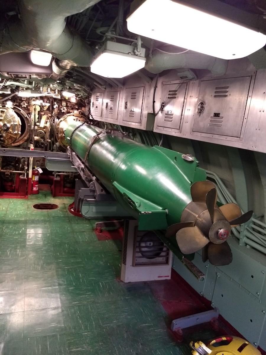 A Torpedo on the USS Growler.