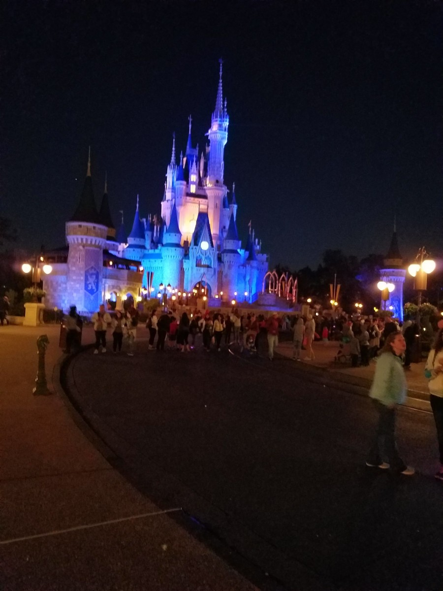 Cinderella's Castle after dark