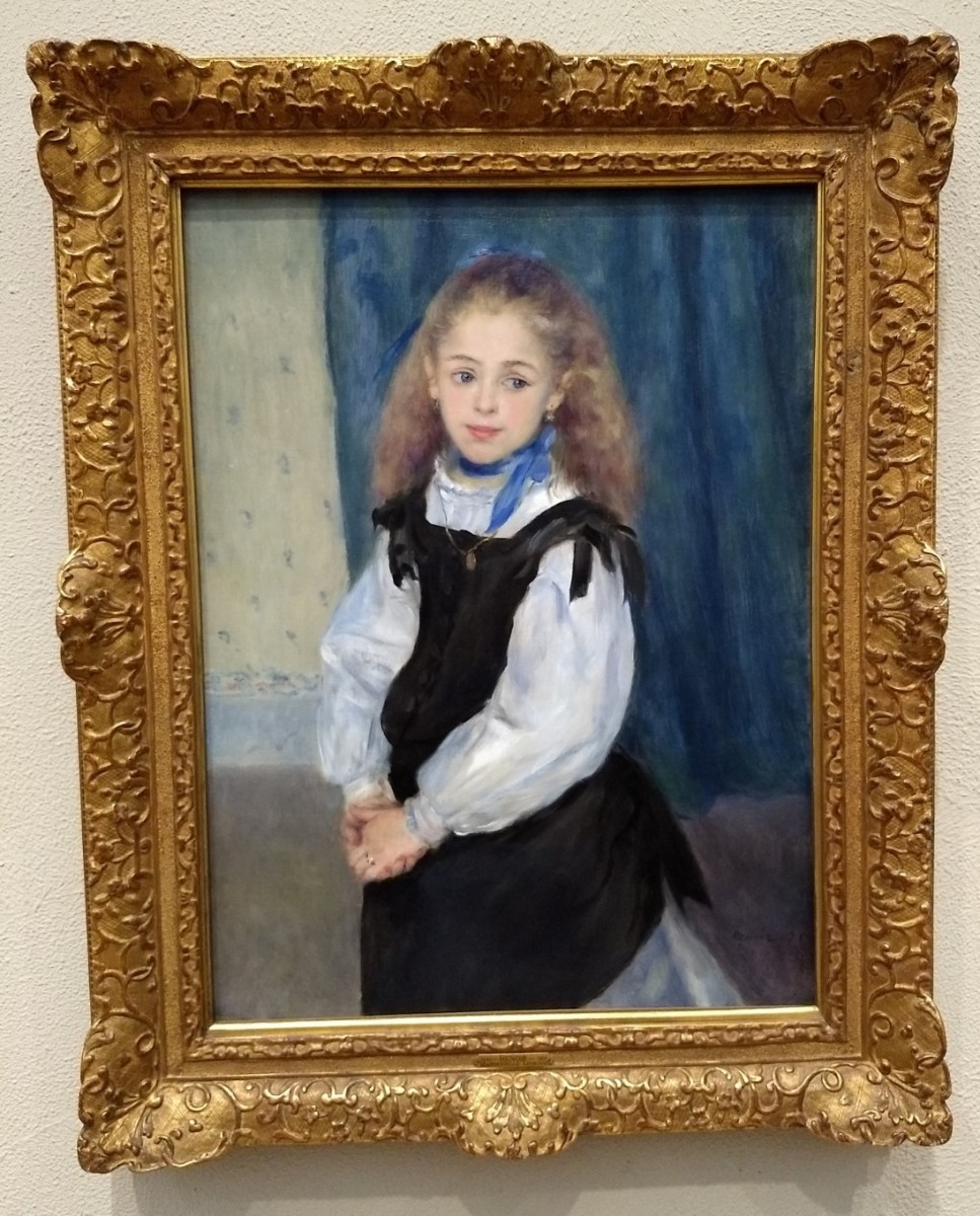 "The Charming ""Portrait of Mademoiselle Legrand"" by Pierre-Auguste Renoir"