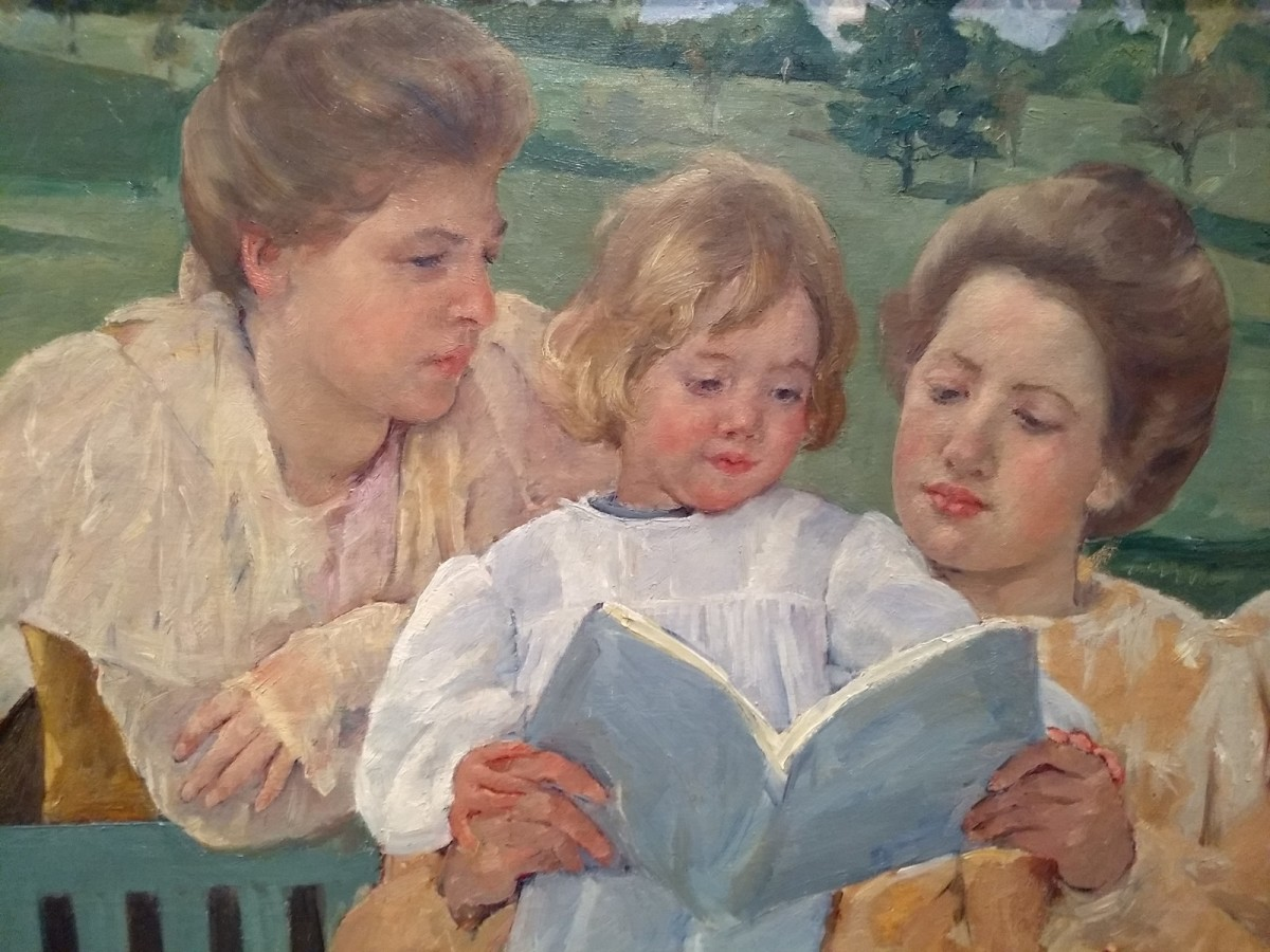 "Close-Up of Mary Cassatt's ""Family Group Reading"""